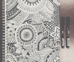 mandala, doodle, and pen image