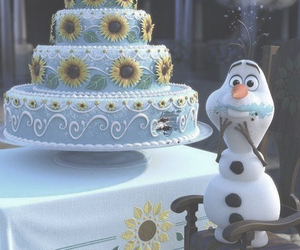 frozen, olaf, and disney image