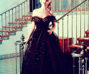 Marilyn Monroe, dress, and vintage image