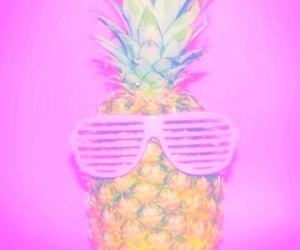 pineapple, pink, and pastel image