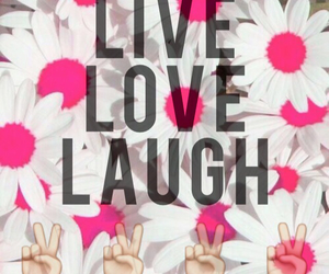 flowers, pic, and laugh image