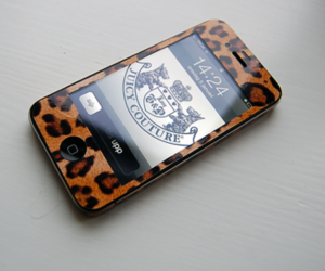 iphone, leopard, and juicy couture image