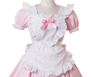 maid, pink, and kawaii image