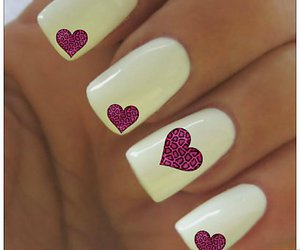 white, nails, and heart image