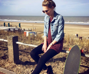 beach, belgium, and fashion image