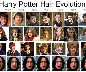 books, hair, and harry potter image