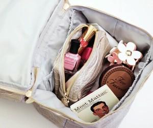 makeup, girly, and bag image