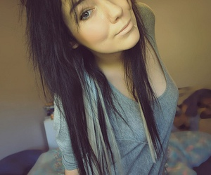 girl, pretty, and hair image