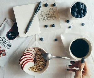 coffee, morning, and berries image