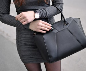 bag, classy, and black image