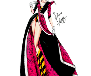 disney, alice in wonderland, and queen of hearts image