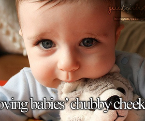 baby, cute, and cheeks image