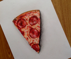 draw, drawing, and pizza image