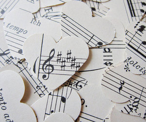hearts, music, and notes image