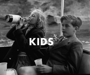kids, cigarette, and smoke image