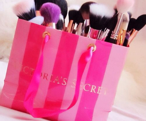 Victoria's Secret, pink, and makeup image