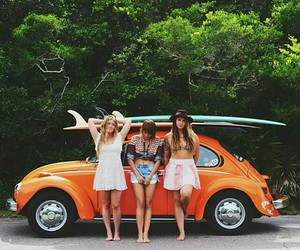 friends, surf, and boho image