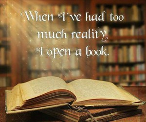book, reality, and reading image