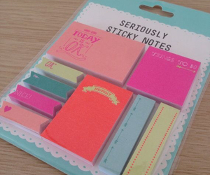 sticky notes and cute image