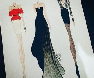 art, black, and dress image