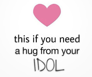 idol, hug, and heart image