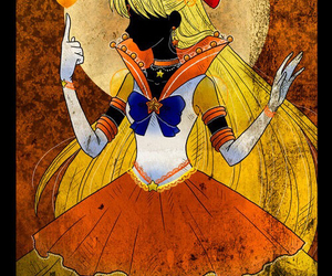 sailor venus, sailor moon, and sailor v image