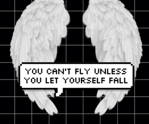 background, black, and wings image