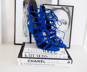 fashion, heels, and blue image