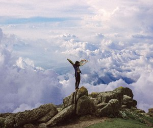 clouds, nature, and freedom image