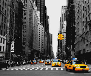 new york, city, and yellow image