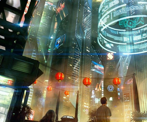 anime, cyberpunk, and future image