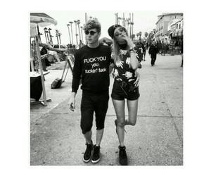 couple, black, and white image