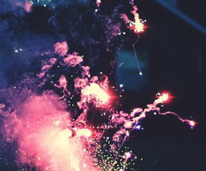 fireworks, light, and pink image