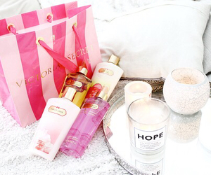 Victoria's Secret, pink, and candle image