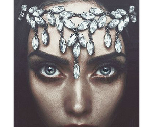 beautiful, blue eyes, and diamond image