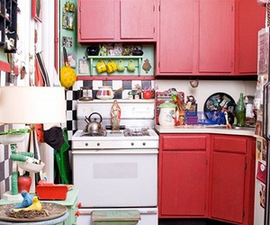 kitchen, lovely, and red image