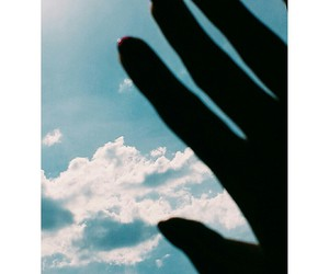 blue, cloud, and hand image