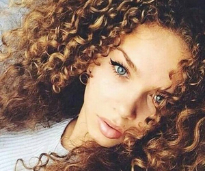 beauty, curly, and green image