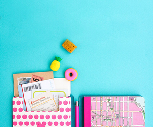 hot pink, backgrounds, and mint image