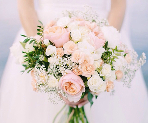 flower, marry, and white image