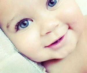 cute, baby, and eyes image