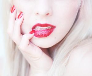 girl, Lady gaga, and lips image