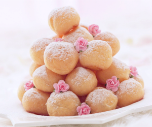 food, sweet, and flowers image