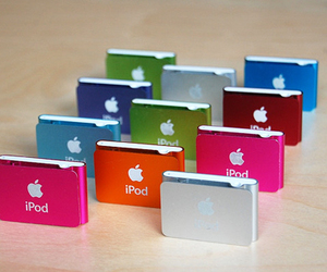 apple, ipod, and colorful image