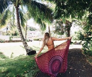 summer, girl, and boho image