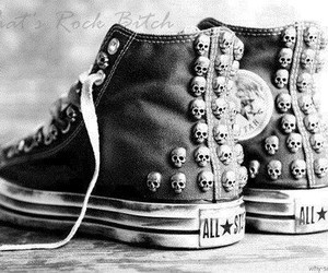 all star, converse, and skull image