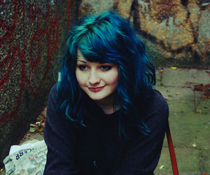 girl, maisie cousins, and blue hair image