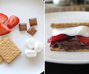 chocolate, strawberries, and marshmallows image