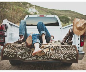 country, couple, and truck image