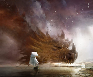 dragon, art, and fantasy image